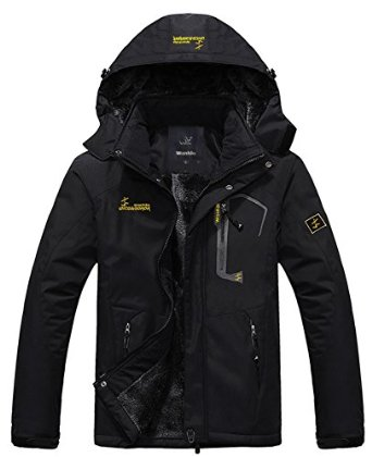WantDo Mens Waterproof Ski Jacket