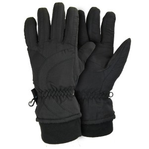 Womens Thinsulate Lined Waterproof Microfiber Winter Ski Gloves
