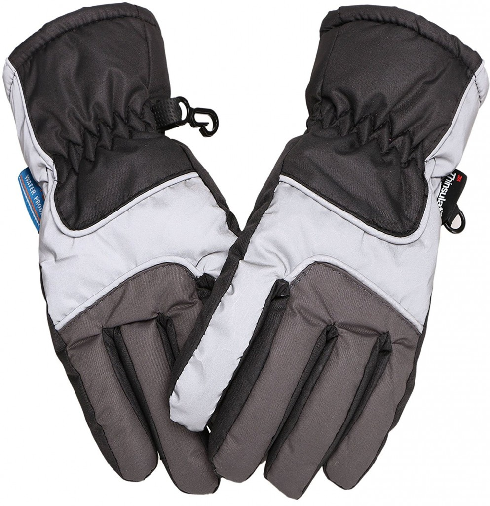 Simplicity Kids 3M Thinsulate Windproof & Waterproof Snow Ski Gloves