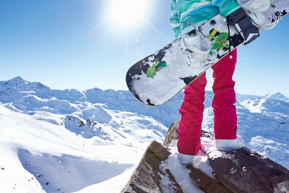 person wearing ski pants