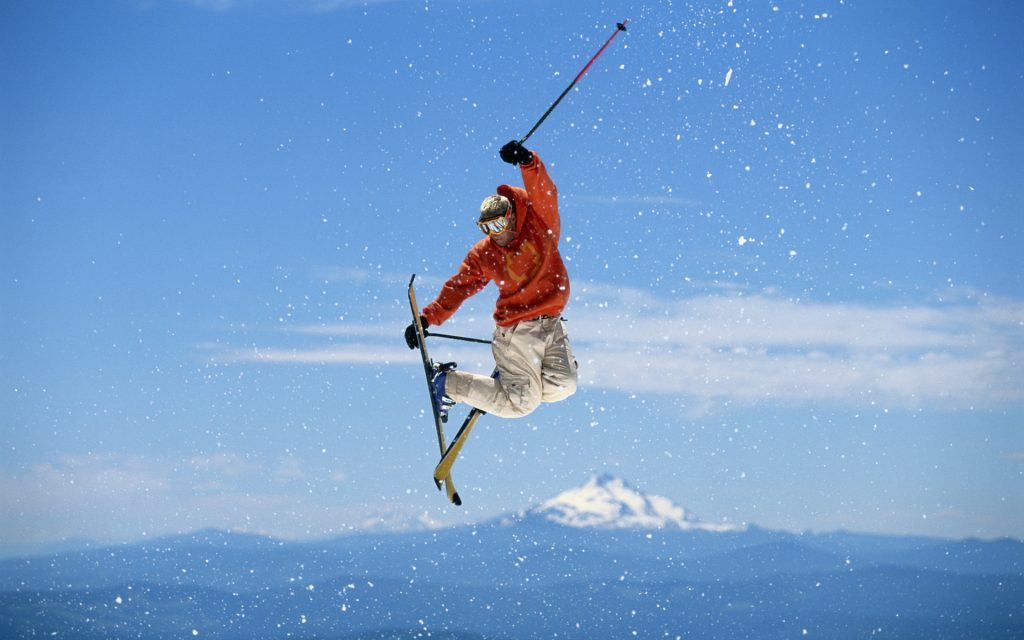 Man Skiing In The Air